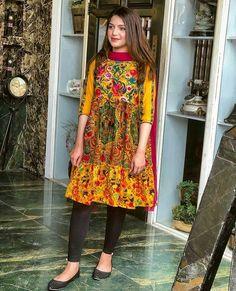 Pakistani Wedding Dresses, Pakistani Outfits, Casual Dresses, Fashion Dresses, Summer Dresses, Hina Altaf, Kurti Styles, Short Frocks, Kurti Patterns