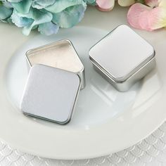 Find Perfectly Plain Collection square silver metal travel candle tin with quantity discounts here, along with other wedding favors and shower gifts. Silver Wedding Favors, Candle Wedding Favors, Candle Favors, Beach Wedding Favors, Wedding Favor Boxes, Personalized Wedding Favors, Traditional Wedding Favours, Edible Favors, Chocolate Favors