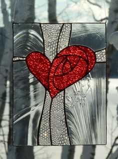 Sparling love! One NICE piece of stained glass!