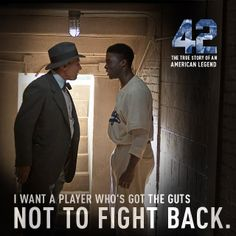 """42 - The story of Jackie Robinson"" Even if you're not a baseball fan, it's a great story to know."