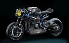 #Gannet Design's #new #supercharged #Kawasaki #NinjaH2 café-racer concept – Designcot