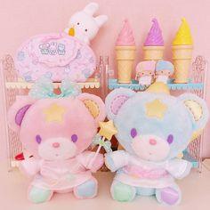"""188 Likes, 5 Comments - @yumiyu075 on Instagram: """"🐻🎀🐻 . . #パフポフ #キキララ #くま #リトルツインスターズ #サンリオ #パステル #ピンク #ゆめかわいい #ぬいぐるみ #ファンシー #pink #pastel #fancy…"""""""