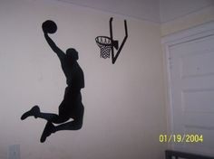 Amazon.com: Large  Easy Instant Decoration Wall Sticker Wall Mural Sport  Basketball Great Pictures