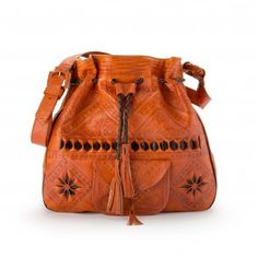 The Wanderlust bag is our adaptation of the traditional Moroccan leather bag. We have collaborated with local Artisans to redesign the shape, function and f~ Leather Bags Handmade, Handmade Bags, Sheep Leather, Brown Leather, Look Hippie Chic, Bohemian Style, Orange Bag, Burnt Orange, Sacks