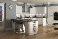 Welford Bright White / Luca Gloss White Kitchens - Buy Welford Bright White / Luca Gloss White Kitchen Units at Trade Prices