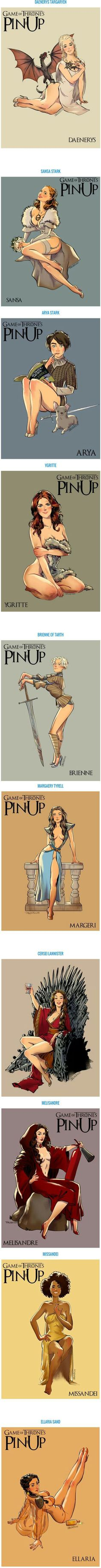 "'Game Of Thrones' got even more sexier : GOT stunning ""Pin-up"" Girls..."