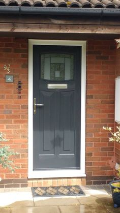 A lovely Newark composite door fitted with Citadel Glass Rockdoor Front Door Ideas Composite Front Door, External Doors, Front Door Colors, Back Doors, Interior Walls, Cheap Home Decor, French Doors, Luxury Homes, Interior Decorating