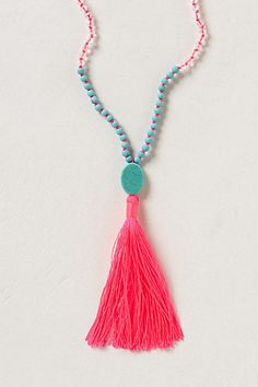 Anthropologie tassel necklace