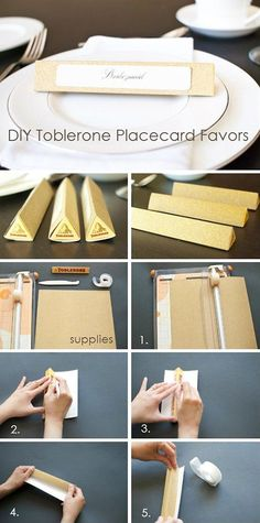 Toblerone Placecard Favors