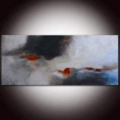 Large Original Abstract White and Black Painting by andrada, $400.00