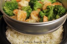 *Riches to Rags* by Dori: Steamed Shrimp and Broccoli with Rice Cooker and Steamer GIVEAWAY! Aroma Rice Cooker, Rice Cooker Steamer, Rice Cooker Recipes, Shrimp And Broccoli, Broccoli Recipes, Fresh Broccoli, Broccoli Rice, Steamed Broccoli, Healthy Cooking