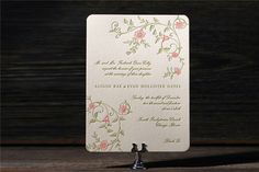 Appleberry - Invitations - The 'Printemps' letterpress invitation from Bella Figura available now from Appleberry Press!