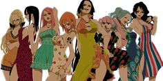 Some of The Women of One Piece