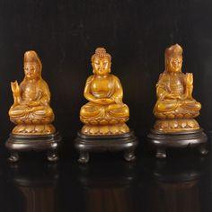 Vintage Chinese Natural Shoushan Stone Buddhism Statue