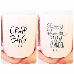 15 oz. BFF Mug Boyfriend Mug Phoebe Crap Bag by ThePrintedCup
