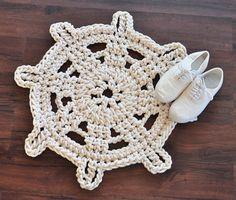 Crochet Rope Rug  Steering Wheel bathroom by TwistedThreadAndHook, $100.00 - Etsy