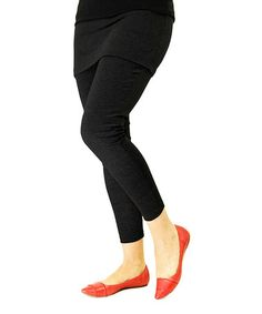 This Black Skirted Leggings - Plus Too by Magid is perfect! #zulilyfinds