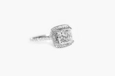 A stunning princess cut halo engagement ring from Beverly Diamonds Princess Cut Halo, Best Jewelry Stores, Halo Engagement, Halo Diamond, Diamonds, Sparkle, Band, Sash, Diamond