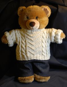 teddy bear clothes dk knitting pattern download teddy bear clothes vintage teddy bears and. Black Bedroom Furniture Sets. Home Design Ideas