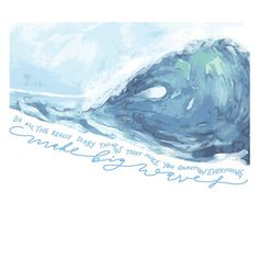 Make Big Waves Greeting Card by Limn House