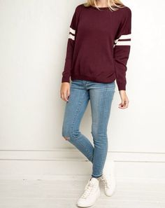 Brandy Melville sweather and jeans