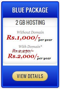 2 GB Hosting in Best Prices. Details can be viewed at  http://www.vtechpk.com/web-hosting/web-hosting-pakistan/web-hosting-lahore