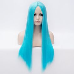 Charming Silky Straight Centre Parting Capless Heat Resistant Synthetic 70CM Long Wig For Women