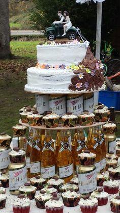 Quad mudding  cake we made for our cousins wedding
