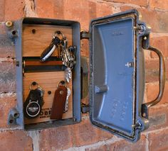 cast iron key storage converted from an antique 1940 s revo fuse rh pinterest com Old Electrical Fuse Panels Fuse Box vs Breaker Box