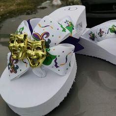 Mardi gras flip flops!