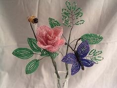 French Beaded Garden Bouquet by foreverflowers, via Flickr