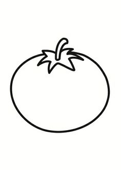 Kleurplaat tomaat Colouring Pages, Coloring Books, Carrot Drawing, Tomato Drawing, Outline Pictures, Picture Templates, House Design Pictures, Outline Illustration, Drawing Clipart