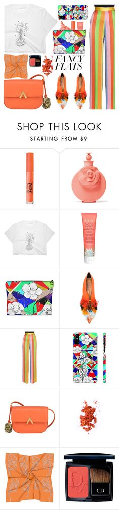 Magic Slippers: Fancy Flats (7) by samra-bv on Polyvore featuring Etro, Coliàc Martina Grasselli, Medusa's Makeup, Christian Dior, Too Faced Cosmetics, Valentino and Kale