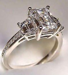 2.40ct Natural Amethyst Gemstone Engagement Ring Ring For Valentine Wife Split Shank Ring Bridal Moissanite Ring Vintage Art deco Ring