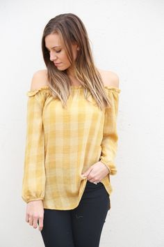Fields Of Gold Off The Shoulder Tunic - The Rage - 1