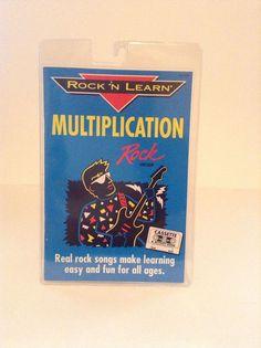 math worksheet : 1992 rock  learn multiplication rap school book and cassette 12  : Multiplication Rap Song