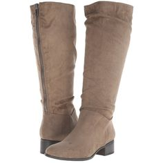 Madden Girl Persiss Women's Pull-on Boots, Taupe ($50) ❤ liked on Polyvore featuring shoes, boots, knee-high boots, taupe, taupe knee high boots, madden girl, slip on boots, pull on boots and madden girl boots