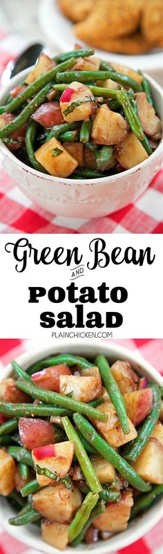 Green Bean and Potato Salad with Balsamic Vinaigrette - takes about 20 ...