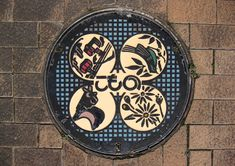 Japanese Manhole Cover-Four Images