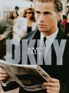 Mark Vanderloo by Peter Lindbergh for DKNY, 1994.