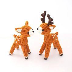 Crochet Doll Amigurumi Pattern Deer ZoO series toy by isoDreams 손뜨개 사슴 인형 패턴 by 이소의꿈타래