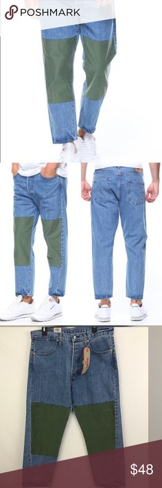 Levi's Mens Drop Crop Pant Jeans Size 33 Brand new with tags - Size 33  US Sizing Belt loops Button fly closure Classic 5 pockets design  Sits as waist Drop crotch on a tapered leg Levi's Jeans