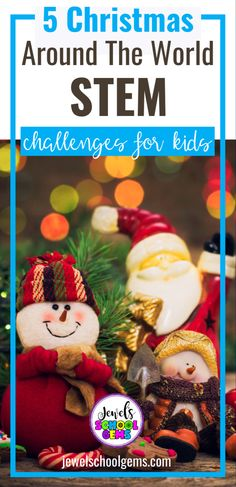 Christmas Around the World STEM Activities and Challenges for Kids by Jewel's School Gems| Looking for ideas for easy Christmas STEM projects? Try these Christmas Around the World STEM challenges! Your students will not only learn interesting facts about Christmas in Egypt, Germany, Australia, Brazil and Italy, but also participate in engineering activities that will require the use of 4Cs. CLICK TO LEARN MORE!