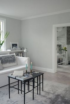 Living room with style // by House of Philia. Nordsjo Ambiance Xtramatt on the walls, 200 29 Cozy Living Rooms, Interior Design Living Room, Home And Living, Living Room Designs, Living Room Decor, Bedroom Decor, House Of Philia, Grey Walls, Kitchen Decor