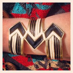 Black/White Triple Arrow Cuff from our upcoming Deco Collection. #melvin #madeinusa #madeinnyc #jewelry #melvinjewelry #accessories #americanmade #fashion #cuffs #arrows #colorblocking #blackandwhite #chevrons #instafashion #instagood #accessorize #armcandy #upcoming #artdeco #enamel - @melvinjewelry- #webstagram