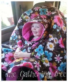 Items Similar To Custom Riding Hood Child Fleece Car Seat Poncho Carseat Booster Hooded Blanket On Etsy