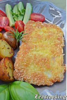 Fried Halibut Fish Recipe but I substituted the panko crumbs for crushed gluten free corn flakes