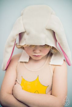 Customizing the cozy winter hood from the Oliver + S Little Things to Sew book, bunny ears