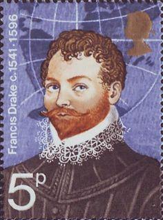 British Explorers 5p Stamp (1973) Sir Francis Drake