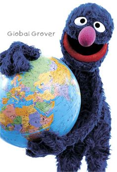 grover goes to school.  http://muppet.wikia.com/wiki/Grover_Goes_to_School